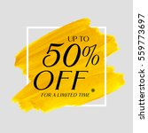 sale up to 50  off sign over... | Shutterstock .eps vector #559773697