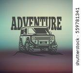 off road suv car monochrome... | Shutterstock .eps vector #559781341