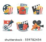 set of cinema and film concepts ... | Shutterstock .eps vector #559782454