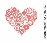 pink heart as a mechanism made...   Shutterstock .eps vector #559782757