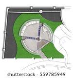 landscaping patio master plan... | Shutterstock . vector #559785949