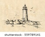 lighthouse  | Shutterstock .eps vector #559789141