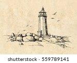 lighthouse  | Shutterstock .eps vector #559789141