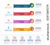 colorful infographics shapes... | Shutterstock .eps vector #559789579