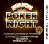 vector casino icon poker night. ... | Shutterstock .eps vector #559790281