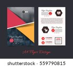colorful polygonal brochure  a4 ... | Shutterstock .eps vector #559790815