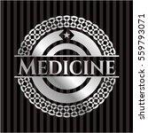 medicine silver badge or emblem | Shutterstock .eps vector #559793071