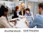 business people meeting at ... | Shutterstock . vector #559794394
