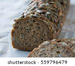 pumpkin seed bread | Shutterstock . vector #559796479