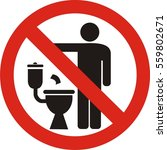 no littering in toilet sign on... | Shutterstock .eps vector #559802671