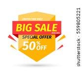sale banner. vector... | Shutterstock .eps vector #559805221