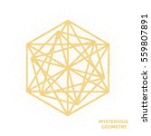 mysterious geometry. abstract... | Shutterstock .eps vector #559807891