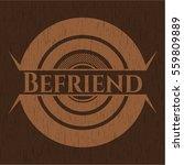 befriend badge with wooden... | Shutterstock .eps vector #559809889