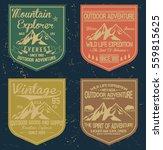 mountain vintage logos  emblems ... | Shutterstock .eps vector #559815625