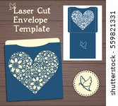 lasercut vector wedding... | Shutterstock .eps vector #559821331