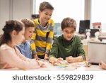 education  children  technology ... | Shutterstock . vector #559829839