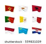 vector flags  south european...   Shutterstock .eps vector #559831039