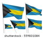 bahamas vector flags set. 5...   Shutterstock .eps vector #559831084