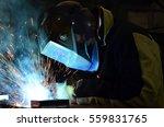 welders working at the factory... | Shutterstock . vector #559831765