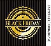 black friday gold emblem or... | Shutterstock .eps vector #559831999