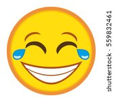 smiley laughing hard  emoticon... | Shutterstock .eps vector #559832461