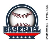 isolated baseball emblem with a ... | Shutterstock .eps vector #559834231