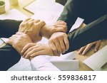 the business confederate hands... | Shutterstock . vector #559836817