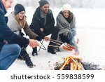 making a barbecue in winter | Shutterstock . vector #559838599