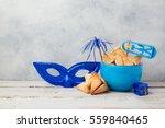 jewish holiday purim concept...   Shutterstock . vector #559840465