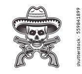 skull of mexican bandit in...   Shutterstock .eps vector #559841899