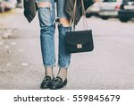 fall fashion outfit details.... | Shutterstock . vector #559845679