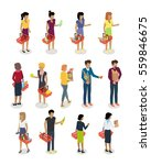 shopping people vector...