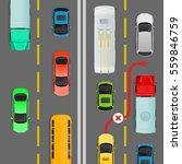 overtaking in dense traffic... | Shutterstock .eps vector #559846759