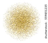 gold sparkles in circle on... | Shutterstock .eps vector #559851235