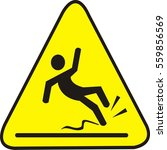 wet floor caution sign. vector... | Shutterstock .eps vector #559856569