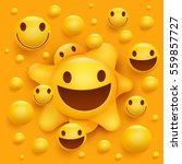 yellow smiley face character....   Shutterstock .eps vector #559857727
