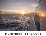 sunset on a yacht | Shutterstock . vector #559857841