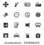 navigation vector icons for... | Shutterstock .eps vector #559858255