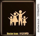 family vector icon | Shutterstock .eps vector #559860991