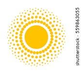 abstract sun icon. vector... | Shutterstock .eps vector #559863055