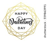 gold valentine day calligraphy... | Shutterstock .eps vector #559863991