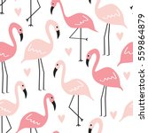 Seamless Flamingo Pattern...