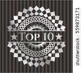 top 10 silver badge or emblem | Shutterstock .eps vector #559873171