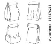 various lunch bags and lunch... | Shutterstock .eps vector #559876285