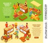 market horizontal banners set... | Shutterstock .eps vector #559882039