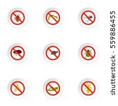insects sign icons set. flat... | Shutterstock . vector #559886455