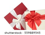 red and white gift box  red... | Shutterstock . vector #559889545