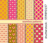 seamless patterns with hearts... | Shutterstock .eps vector #559893157