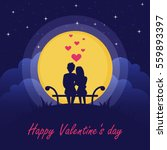 happy valentine's day. couple... | Shutterstock .eps vector #559893397