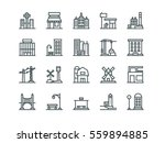 Architecture. Set of outline vector icons | Shutterstock vector #559894885